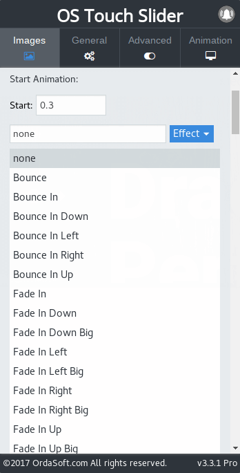Edit text in OS Responsive Touch Slider